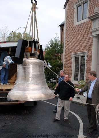 Cast Bronze Church Bell Installation project at First Presbyterian Church, Wilmington, NC