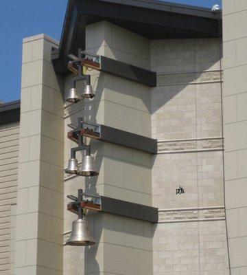 Cast Bronze Bell Installation Indiana Wesleyan University Marion