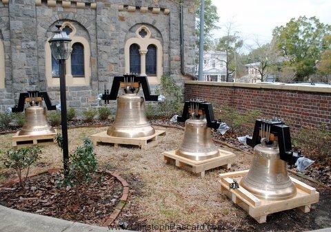 New Cast Bronze Bell Before Installation