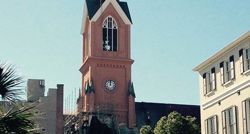 Church Bell and Clock Tower