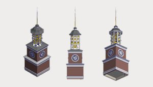 Bell Clock Tower Technical Architectural Drawings