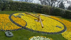 Outdoor Floral Clock Example