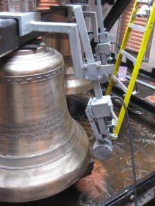 Electromagnetic Striker for Designed Swinging Bells