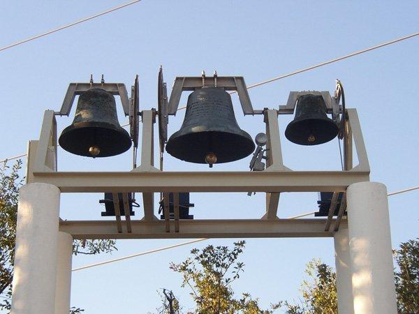 New Bell Sculpture installation