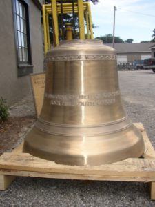 New cast bronze bell installation Episcopal Church of Our Saviour, Rock Hill, South Carolina