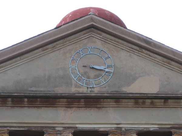College of Charleston Randolph Hall marker clock