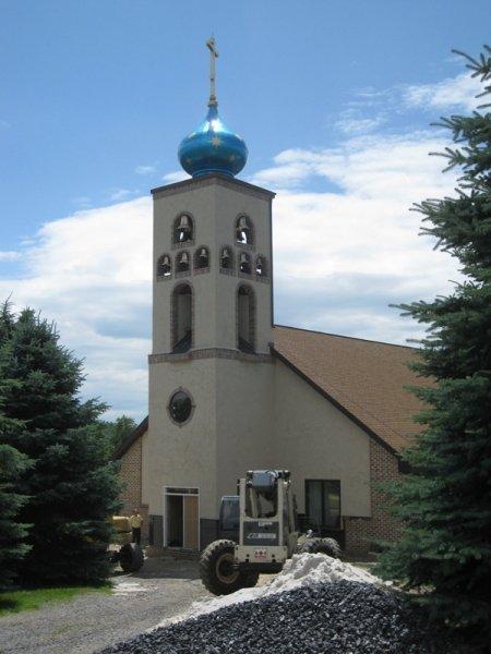 New Construction Church Bell Tower