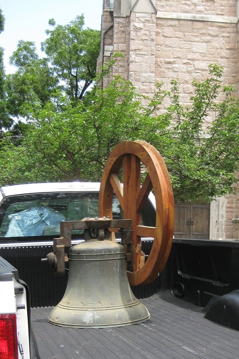Delivery of Chapel of the Cross Church Bell