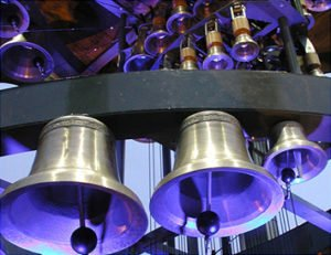 Lighted Cast Bronze Bells