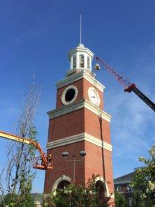 Carillon bell installation in Miller Tower, Union University, Jackson, Tennessee