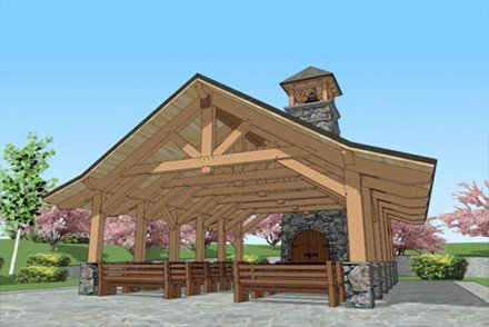 Outdoor Open Chapel Bell Tower Construction