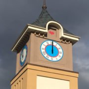 Outdoor clock faces profile installation project
