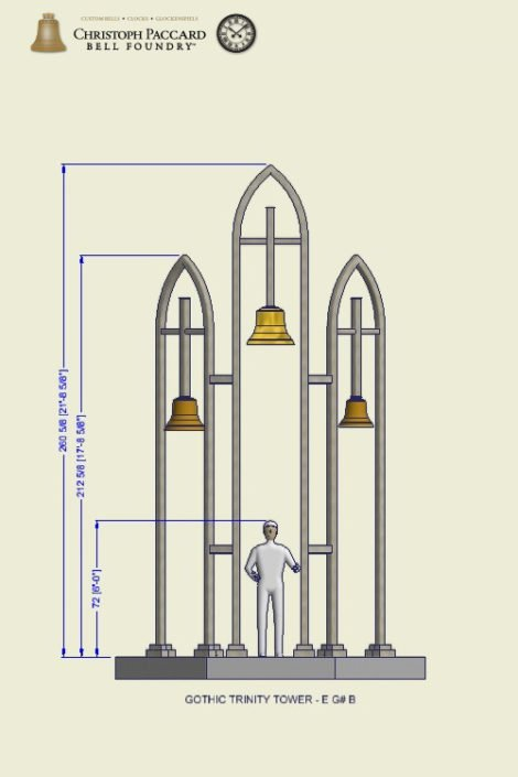Gothic Trinity Custom Bell Tower Design