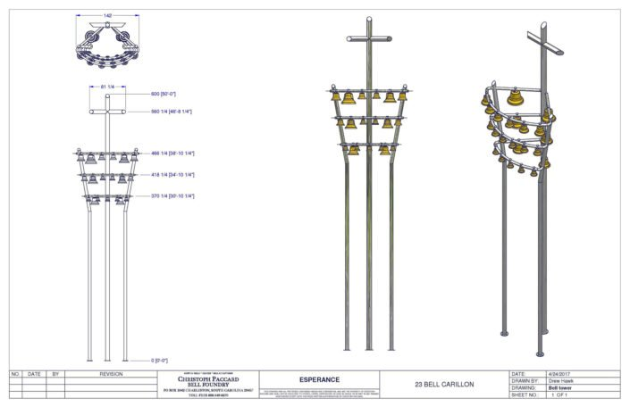 "Custom Bell Tower Design ""Esperance"""
