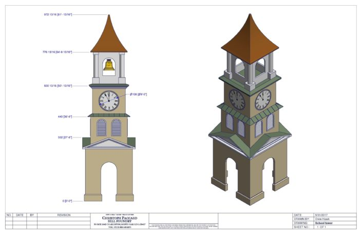 University/College/School Bell Clock Tower