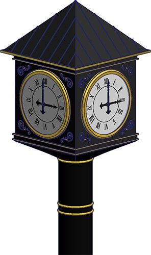 Rise & Chime ™ Street Clock and Post Clock Closed